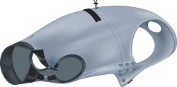 Ochranný obleček na trup po operaci XS-S 30 cm šedý