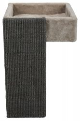 Čtveratý pelech se škrabací deskou sv.šedý,umístění v polici