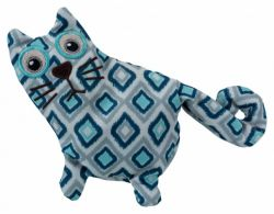 Hračka kočka, plyš 15 cm, plněná pohankou