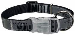 Obojek EXPLORE L-XL 40-65cm/25 mm s blikátkem černý/reflexní