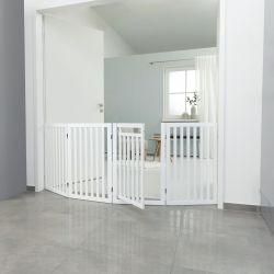 Ochranná bariéra s otvíracími dvířky 60-160 x 81 cm bílá