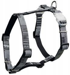 Postroj EXPLORE XS-S 30-45cm/20mm s blikátkem černý/reflexní