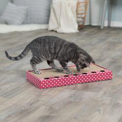 Škrabací karton s hračkou 48 x 25 cm růžový