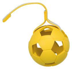 SPORTING míč s dírami na pásku, přírodní guma 11 cm/30 cm