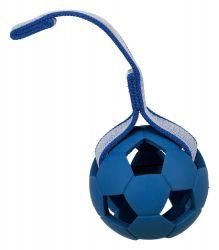 SPORTING míč s dírami na pásku, přírodní guma 7 cm/22 cm
