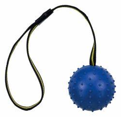 SPORTING míč tvrdý na nylon.pásku, přírodní guma 7 cm/35 cm