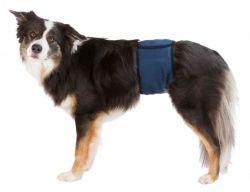 Břišní pás na podložky pro psa samce XL 65-75 cm tmavě modrý
