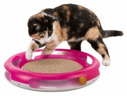 Hračka pro kočku kruh s kuličkou a škrabacím kartonem 37 cm