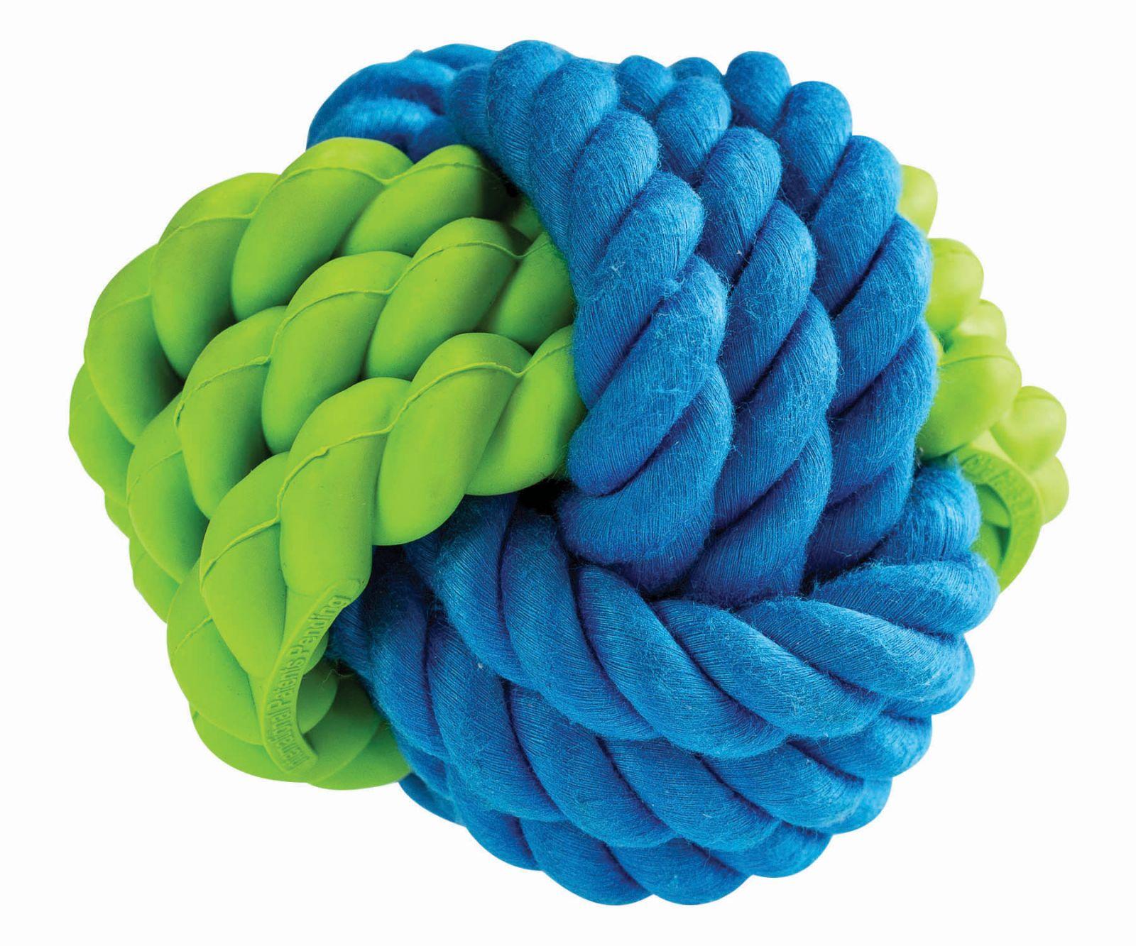 Kombinovaný Monty míč přírodní guma a bavlna 9.5cm HipHop