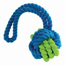 Kombinovaný Monty míč přírodní guma a bavlna s poutkem 31cm HipHop