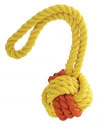 Kombinovaný Monty míč přírodní guma a bavlna s poutkem 24cm HipHop