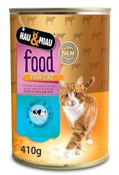Konzerva HM hovězí maso ve šťávě pro kočky 400 g