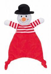 Vánoční plyšová šustící hračka SANTA, SOB, SNĚHULÁK 30 cm