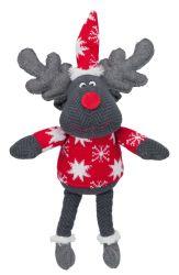 Vánoční plyšový sob (šedý, hnědý) 42 cm