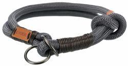BE NORDIC stahovací obojek, L-XL: 55cm/13mm, tmavošedá/hnědá