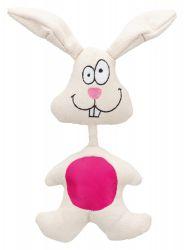 Látkový králík bílý s růžovým bříškem 29 cm