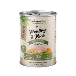 CHICOPEE ADULT čisté drůbeží s rýží konzerva pro psy 400 g