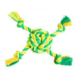 Míč se 4 rameny HipHop bavlněný 29 cm / 255 g limetková, zelená