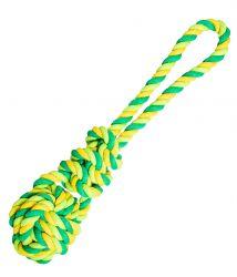 Přetahovadlo míč s uzlem HipHop bavlněné 23 cm / 90 g limetková, zelená