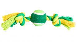 Uzel s tenisákem HipHop bavlněný 2 knoty 30 cm / 150 g limetková, zelená