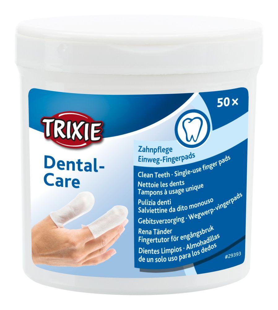 Zubní péče - jednorázové pečující návleky na prst, 50ks TRIXIE