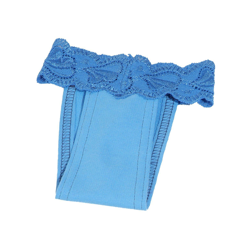 Hárací kalhotky s krajkou (doprodej skladových zásob) - modrá I love pets