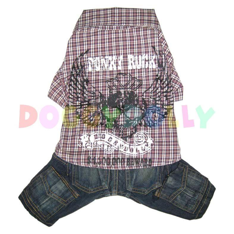 Kalhoty s košilí Doggydolly Punky hnědá