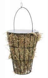 Košík na seno s víkem, k zavěšení, ø 9/ø 16 × 21 cm