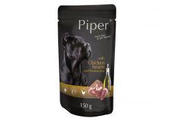 PIPER s kuřecími srdíčky a hnědou rýží, kapsička pro psy 150 g