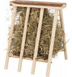 Jesličky na seno dřevěné, přírodní dřevo, 25 x 11 x 25 cm