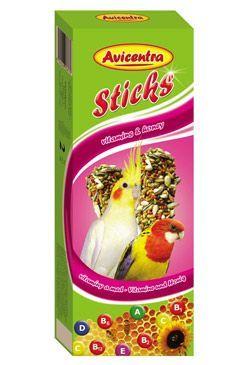 Avicentra tyčinky malý papoušek - vitam. + med 2ks